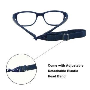 Image 4 - Boy Glasses Frame with Strap Size 43/16 One piece No Screw Safe, Optical Children Glasses, Bendable Girls Flexible Eyeglasses