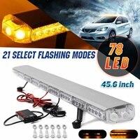 45.6 234W LED 12V 24V Truck Car Strobe Light Light Bar Led Bar Flashing Beacon Light Roof Emergency Warning Lamps 21 Modes