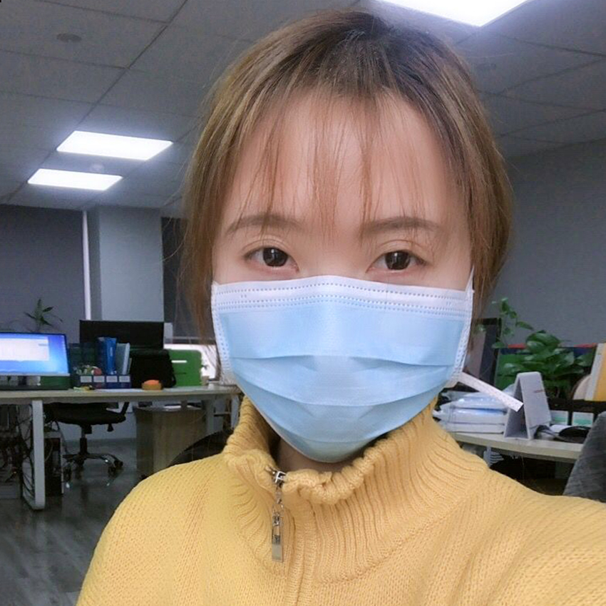 100PCS Personal 3 Layer Disposable Masks Anti PM2.5 Influenza Bacterial Facial Dust-Proof Safety Masks