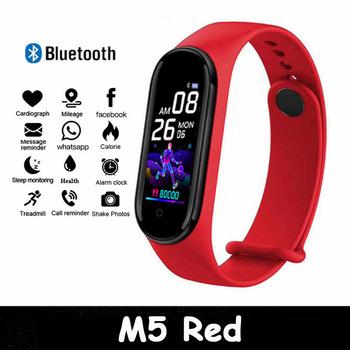 2020 nowy kolor M5 ekran inteligentny zegarek kobiety mężczyźni Touch Fitness Tracker tętno ciśnienie krwi inteligentny zegar Smartwatch dla Xiaomi tanie i dobre opinie CANSNOW CN (pochodzenie) Z systemem Android Wear Na nadgarstek Zgodna ze wszystkimi 256MB Krokomierz Rejestrator aktywności fizycznej