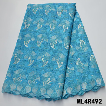 BEAUTIFICAL african lace fabrics voile lace embroidery fabric High quality cotton dry lace nigerian fabric for women ML4R492