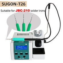 SUGON T26 Soldering Station Lead-free 2S Rapid Heating Soldering Iron Kit JBC C210 210 handle universal 80W Power Heating System(China)