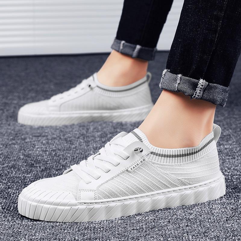 Chaussures de sport, de grande taille pour hommes, chaussures de sport, de marche, antidérapantes, en maille, ultralégères, élastiques, haute qualité, chaussures pour hommes