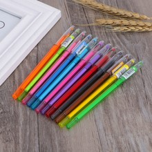 Diamond Gel Pen School Supplies Draw 12 Colored Pens Student Candy Color Gifts R9UA(China)