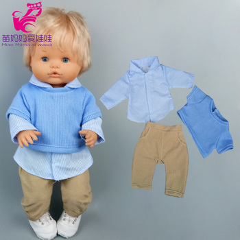 for 40cm Nenuco baby doll boy blouse shirt fit 38cm Ropa y su Hermanita clothes casual suit