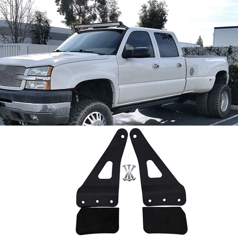 Roof Cab Mount LED Light Bar Brackets 50 Inch Straight Compatible For 2007-2013 Chevrolet Chevy Silverado Suburban Avalanche Tah