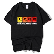 T-Shirt «Table Of Humor» périodique pour hommes, cadeau d'anniversaire amusant, à manches courtes, en coton, éléments primaires de chimie