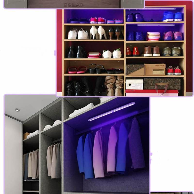 Home Office UV LED Ultraviolet Sterilizer UV Lamp with Infrared Induction for Wardrobe Cabinet Kitchen Cabinet