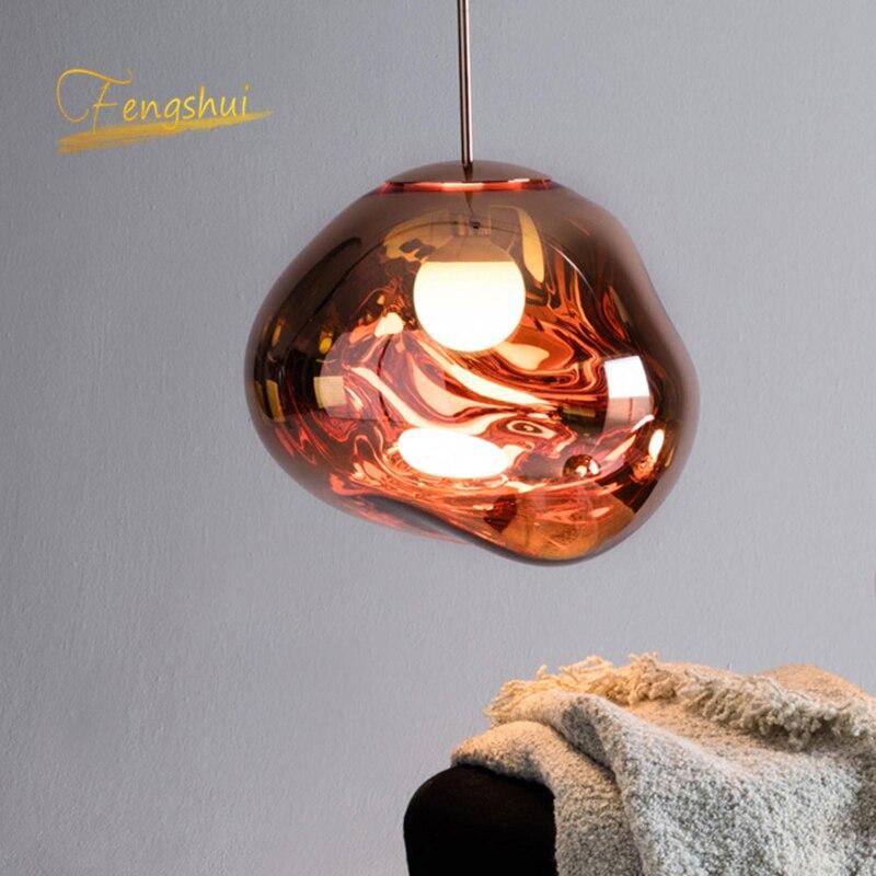 lowest price Modern Lava PVC Pendant Lights Vintage Villa Duplex Apartment Lighting Design LED Pendant Lamps for Home Indoor Decor Suspension