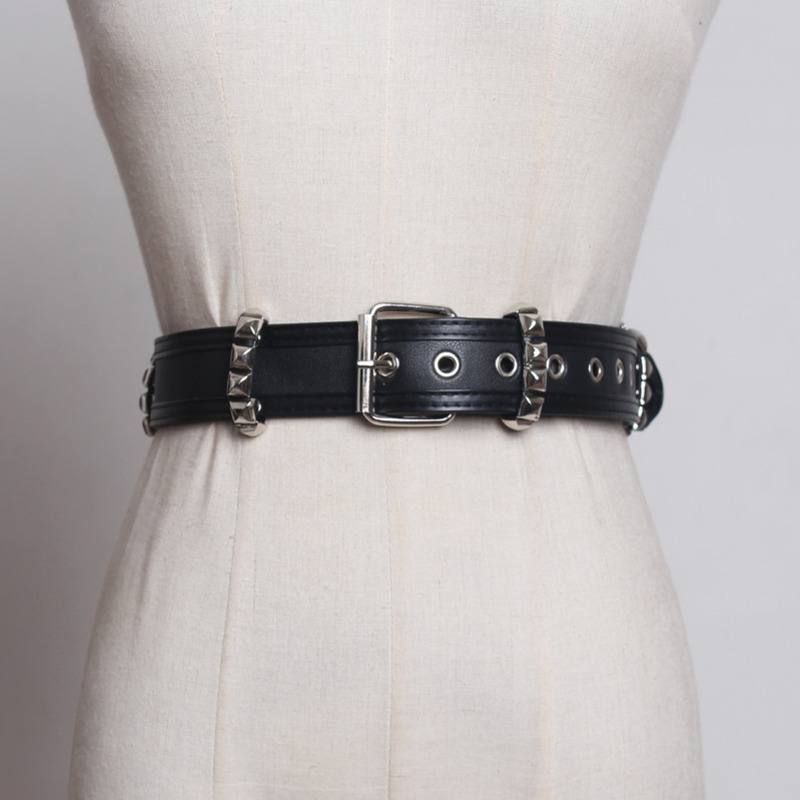 2020 PU Leather Corset Belt New Design Belts For Women Stylish Wide Belt Punk Style Belt High Fashion Waistband Female ZK573
