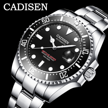 CADISEN 2020 New Mens Menchanical Watches Fashion Automatic watches top Brand Luxury Military Watch Menrelogio masculino