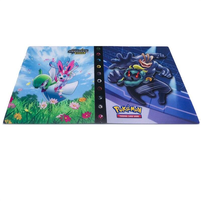 240 шт. держатель Альбом игрушки коллекции Pokemones карты Альбом Книга Топ загруженный список игрушки подарок для детей - Цвет: 17