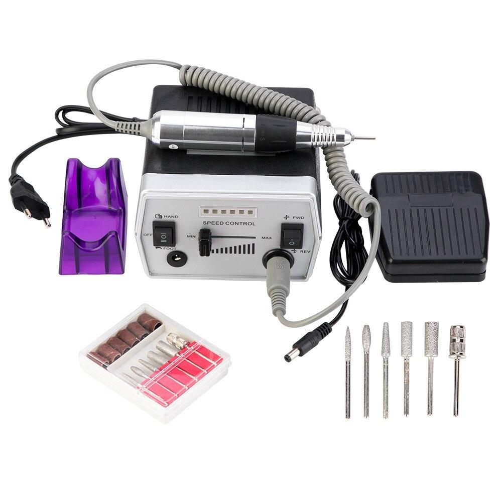 30000 RPM 3 Colors Pro Electric Nail Drill Bits Set Manicure Tools Nail Pedicure Files Nail Pen Machine Set Kit 220 240VElectric Manicure Drills   -