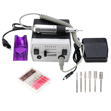 30000 RPM 3 Colors Pro Electric Nail Drill Bits Set Manicure Tools Nail Pedicure Files Nail Pen Machine Set Kit 220 240V