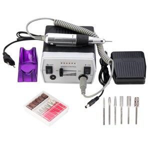 Image 1 - 30000 RPM 3 色プロ電気ネイルドリルビットセットマニキュアツールペディキュアファイル爪イルドリルペンマシンセットキット 220 240V