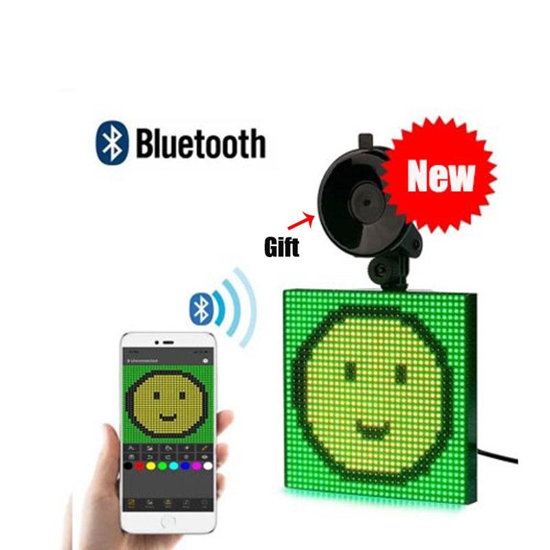 Автомобильный светодиодный Экран дисплея приложение Bluetooth Управление GIF программируемый сообщение Управление светодиодный доска Пользова...