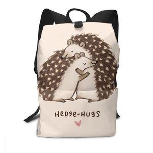 Image 1 - Hedgehog Rucksack Hedgehog Rucksäcke Schule Hohe qualität Tasche Männer Frauen Muster Trend Student Taschen