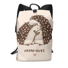 Jeż plecak jeż plecaki szkoła wysokiej jakości torba mężczyzn kobiety wzór trendy torby dla uczniów