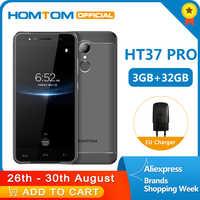 HOMTOM HT37 Pro 4G Smartphone podwójny głośnik MTK6737 5.0 Cal HD Android 7.0 3GB + 32GB 13MP 3000mAh identyfikator odcisków palców telefon komórkowy
