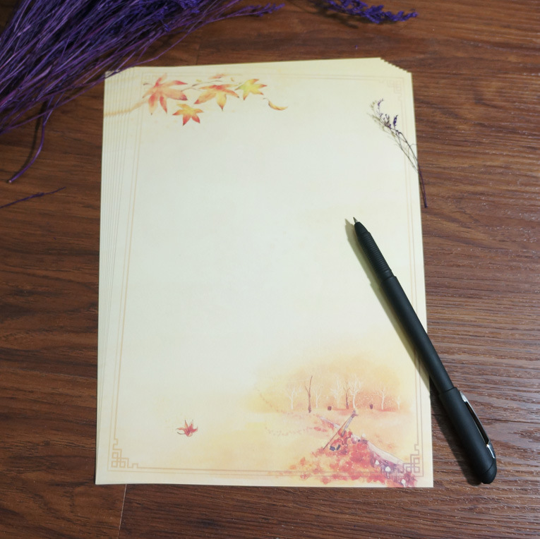 Sui Yue Fang Ancient Chinese-style Retro Writing Paper Characteristics Cool Antique Style Writing Paper Under The Maple Violin