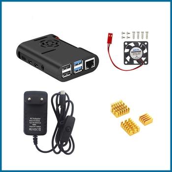 S ROBOT Raspberry Pi 4 ABS housing black plastic box housing with cooling fan cooler for Raspberry Pi 4 Model B Pi 4B RPI158 цена 2017