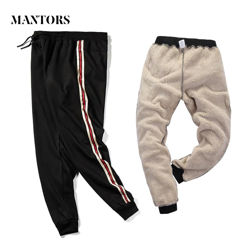 Warm Velvet Sweatpants Men Casual Joggers Pants 2019 Winter New Men's Sportswear Thicken Fleece Trousers Outside Heavyweight