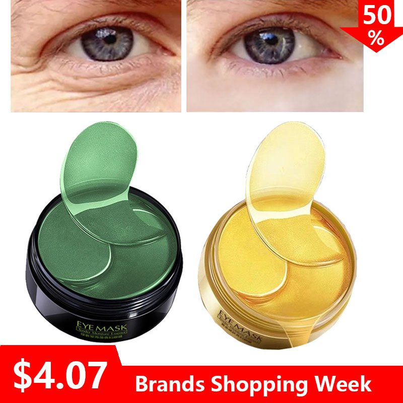 Gel Circles-Bags Eyes-Mask Eye-Patches Ageless Hydrogel Anti-Aging Collagen Gold Dark