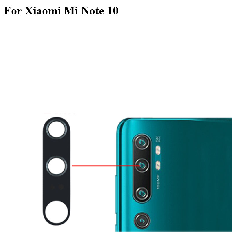 2PCS Tested New For Xiaomi Mi Note 10 Rear Back Camera Glass Lens Xiao Mi Note 10 Repair Spare Parts Note10 Replacement