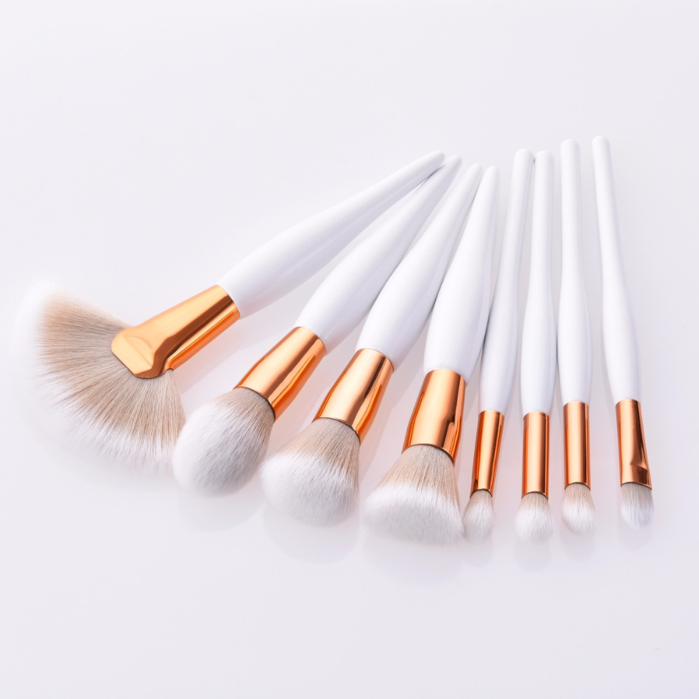Image 2 - 4pcs or 9 Pcs Beauty Tools Sets Makeup Brushes Chubby Brush/ Flame/ Flat Head/ Micro Brush 2 Colors Blusher Foundation Concealer-in Eye Shadow Applicator from Beauty & Health