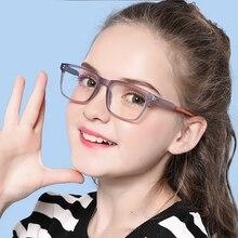 AIMISUV, синий светильник, блокирующие очки, Детская мода, гибкая оправа TR90, простые очки для компьютерных игр, детские очки для девочек