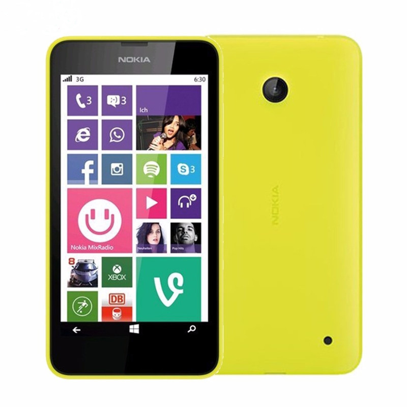 "Nokia Lumia 635 мобильный телефон Windows OS 4,"" четырехъядерный 8G rom 5.0MP wifi gps 4G LTE разблокированный мобильный телефон - Цвет: Yellow"
