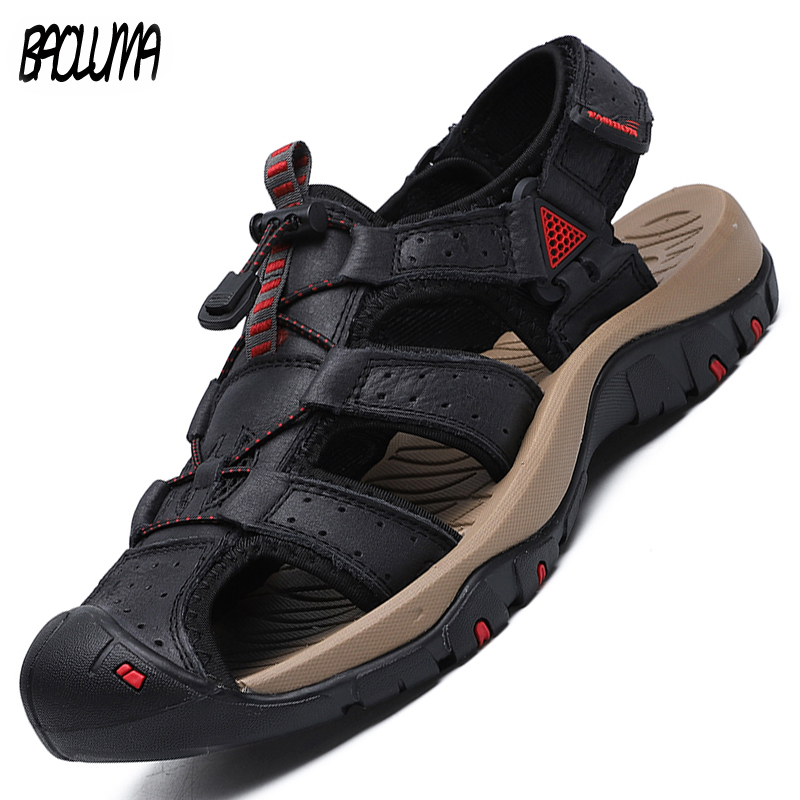 Summer Men's Sandals Leather Outdoor Water Shoes Hot Sale Light Men Roman Beach Sandals Bohemia Footwear Zapatos Mujer Sneakers