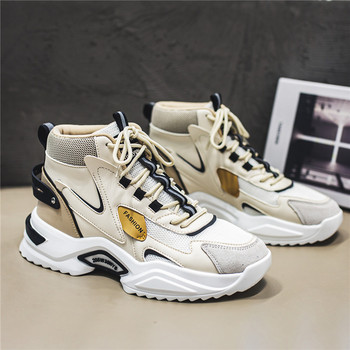 High-top Korean style trendy Sneakers shoes 39-44 Popular Lace-up Fashion Shoes For Men Classic Men's Fashion Sneakers Damping