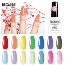 ROSALIND Kleurrijke Builder Gel Nagellak Clear Nail Gel Vernissen Voor Nail Art Ontworpen losweken Semi Permanente UV Lamp gel(China)