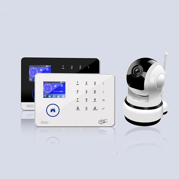 Touch Keypad WIFI+GSM Burglar Alarm System With IP Camra