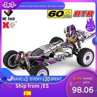 WLtoys-coche de carreras RC de 2,4G, 60 Km/h, chasis de Metal, 4wd, derrape en carretera, coches eléctricos de Control remoto, juguetes para adultos y niños, 124019