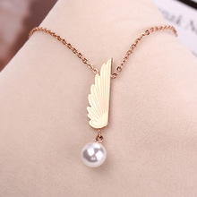 Collares Sale Trendy Kolye Moana 2019 Hot Stainless Steel Necklaces For Women Rose Pearl Titanium Necklace Gifts Jewelry