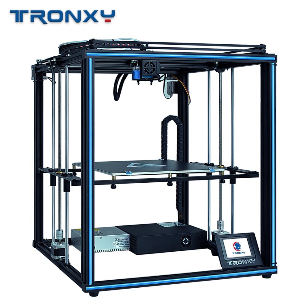 Tronxy x5sa 3d impressora 24 v power core xy diy kits de alta precisão impressão construir placa 330*330mm filamento sensor power off currículo