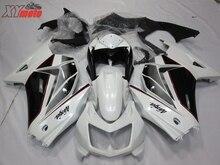 Injection ABS Plastic Fairings For Kawasaki Ninja250R 08-12 Motorcycle Fairing Kit EX250 Z250 2008-2012 White Black Bodyworks цена