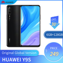 Original versão global huawei y9s 6gb + 128gb smartphone 48mp ai triplo câmeras do telefone móvel 16mp câmera frontal 6.59 cellphone celular