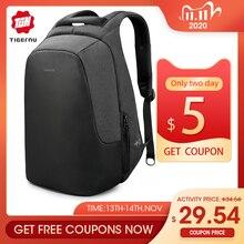 Tigernu marka mężczyźni kobiety z zabezpieczeniem przeciw kradzieży plecak na 15.6 laptop casual travel splashproof plecaki tornister dla nastolatków chłopcy dziewczęta