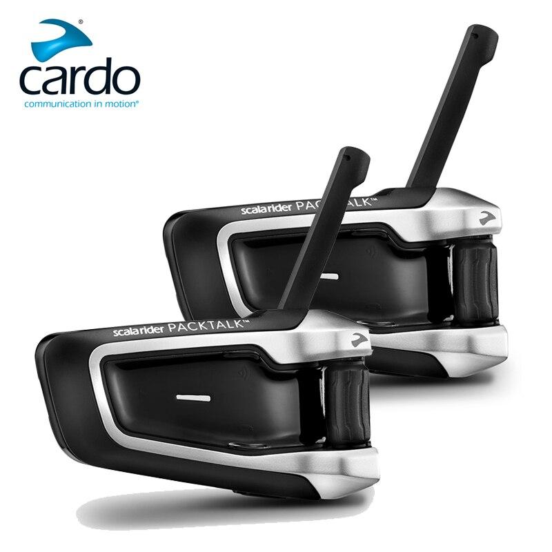 Fodsports 2 sztuk Cardo packtalk motocykl zestaw słuchawkowy bluetooth do kasku Intercom Riders 1600M bezprzewodowy Intercomunicador