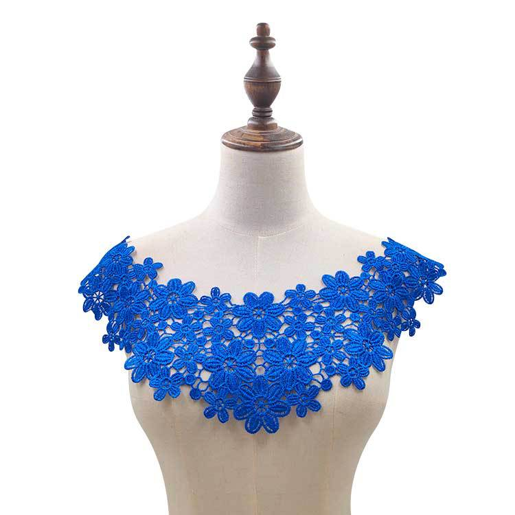 H03b164c489794953869bbe9fef8d46a3e 30 Style High Quality White Lace Fabic Embroidered Applique Neckline for Lace Fabric Sewing Supplies Scrapbooking 45*27cm