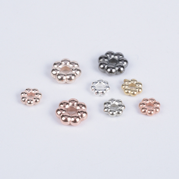 100-300Pcs/Lot Flower Loose Beads For Necklace Bracelet DIY Findings Accessories CCB Spacer End Beads Jewelry Making Supplies 100 300pcs lot flower loose beads for necklace bracelet diy findings accessories ccb spacer end beads jewelry making supplies