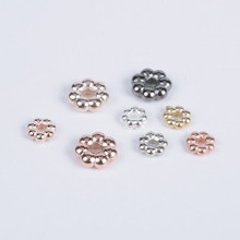 300Pcs/Lot Flower Charms Loose Beads For Necklace Bracelet DIY Accessories CCB Spacer End Beads For Jewelry Making 100 300pcs lot flower loose beads for necklace bracelet diy findings accessories ccb spacer end beads jewelry making supplies