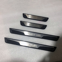 for Renault Captur 2015 2016 2017 2018 Door Sill Strip Scuff Plate Metal And Plastic Pedal Trim Car Styling Accessories 4 Pcs