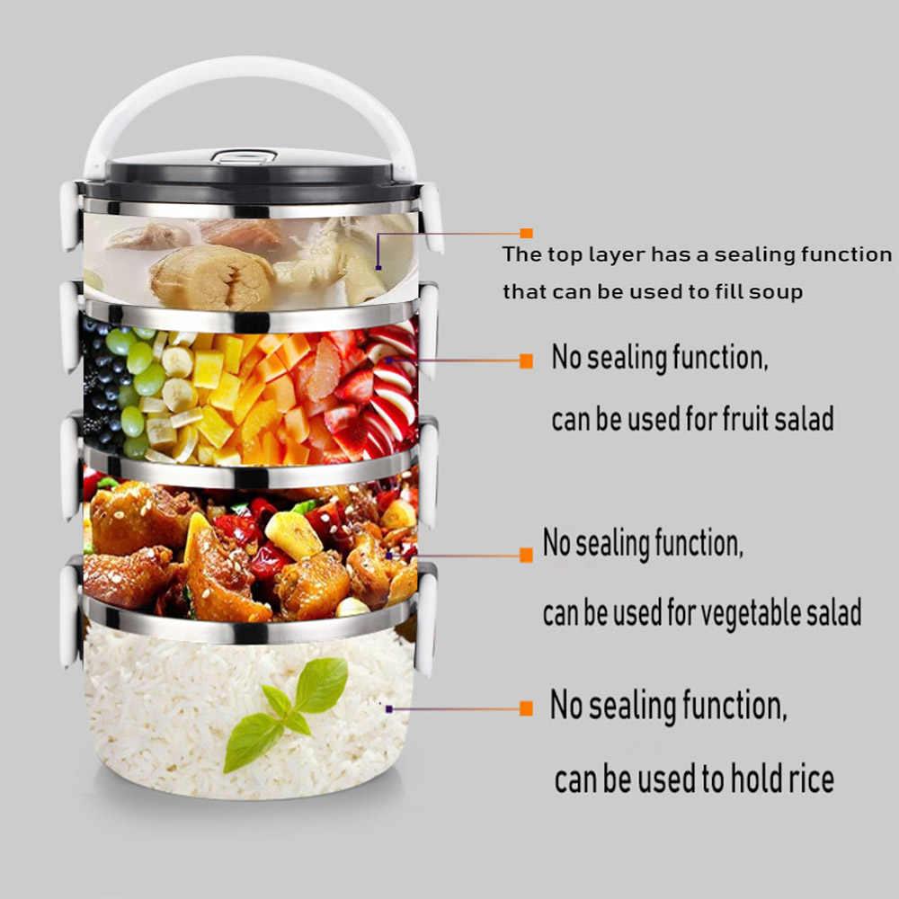 Garrafa Térmica de Aço inoxidável Caixa de Almoço Para As Crianças Adulto Japonês Bento Box Portátil À Prova de Vazamento Escola Lancheira Recipiente De Armazenamento de Alimentos