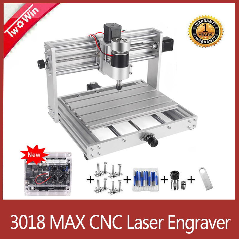 <font><b>CNC</b></font> 3018pro-METAL Engraver,GRBL Control with <font><b>200W</b></font> <font><b>Spindle</b></font> <font><b>CNC</b></font> Laser Machine,3 Axis with ER11 PCB Milling Machine <font><b>CNC</b></font> Router image