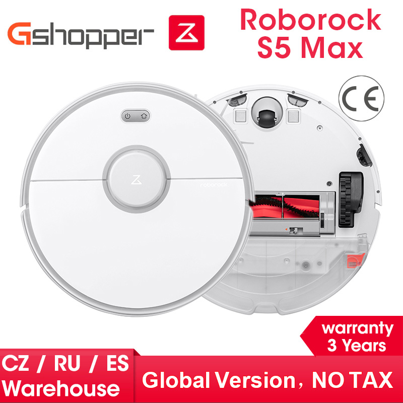 2020 New Arrival Roborock S5 Max Robot Vacuum Cleaner S5max cordless for home upgrade of S50 S55 collect pet hairs Gshopper|Vacuum Cleaners|   - AliExpress