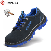 Work Safety Shoes Men's Steel Toe Casual Breathable Outdoor Sneakers Puncture Proof Boots Comfortable Industrial Shoes for Men